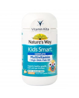 Natures Way Kids Smart Complete Multivitamin Plus Fish Oil HIGH DHA (50 Caps)