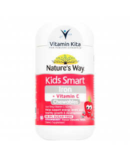 Natures Way Kids Smart Iron Plus Vitamin C - 50 Chewtab