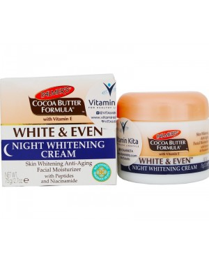 Palmers Cocoa Butter Formula White & Even Night Whitening Cream (78g)
