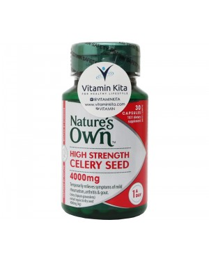 Natures Own High Strength Celery Seed 400mg (30 Caps)