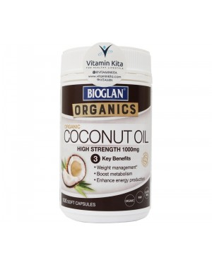 Bioglan Coconut Oil High Strength 1000mg (100 Caps)
