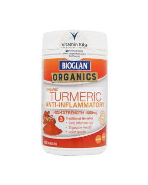 Bioglan Organics Turmeric Anti Inflammatory High Strength 1000mg (100Tab)