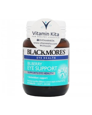 Blackmores Bilberry Eye Support Supports Eye Health (30Tab)