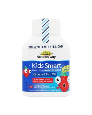 Nature's Way Kids Smart Omega 3 + Fish Oil Strawberry (50 Caps)