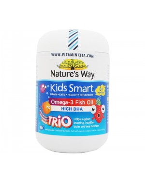 Nature's Way Kids Smart Omega 3 Fish Oil High DHA 6+ Month (180 Soft Caps)