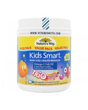 Nature's Way Kids Smart Omega 3 Fish Oil Trio  (180 Cap)