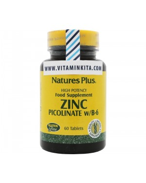 NATURES PLUS ZINC PICOLINATE W/ B-6 (60 TAB)