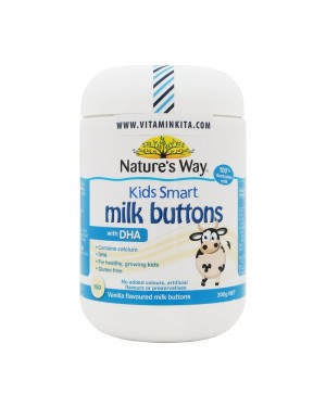 Natures Way Smart Milk Buttons With DHA 300 gr (150 Tab)