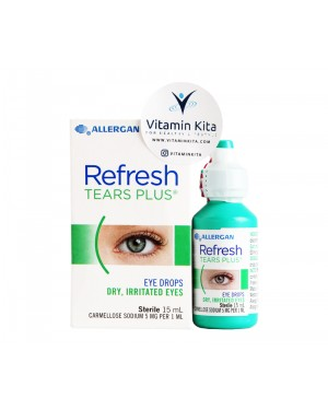 Allergan Refresh Tears Plus Eye Drops Dry And Irritated Eyes - 15 ml
