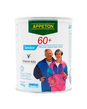 APPETON 60 PLUS SUSU UNTUK LANSIA RASA VANILLA 400 GR
