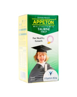 APPETON MULTIVITAMIN TAURINE SYRUP 60 ML FOR HEALTHY GROWTH