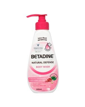 BETADINE NATURAL DEFENSE BODY WASH REFRESHING POMEGRANATE
