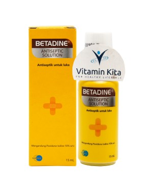BETADINE SOLUTION 15 ML ANTISEPTIK UNTUK LUKA