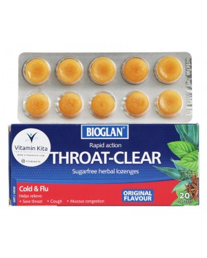 Bioglan Throat Clear Original Flavour (20 lozenges)