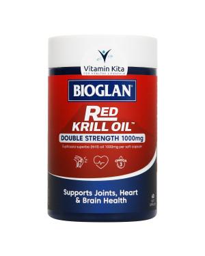 Bioglan Red Krill Oil Double Strength 1000mg (60 Soft Capsules)