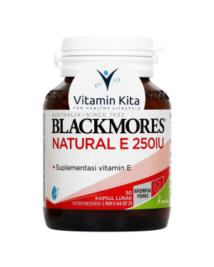 BLACKMORES NATURAL E 250 IU BPOM KALBE - 50 CAPS