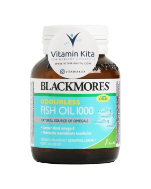 BLACKMORES ODOURLESS FISH OIL 1000 BPOM KALBE - 30 CAPS