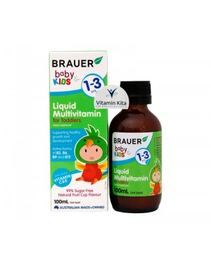 Brauer Baby And Kids Liquid Multivitamin For Toddlers-100ml
