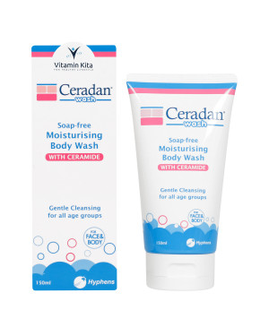 CERADAN MOISTURISING BODY WASH SOAP FREE 150 ML