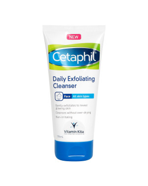 CETAPHIL DAILY EXFOLIATING CLEANSER (ALL SKIN TYPES) BPOM 178 ML