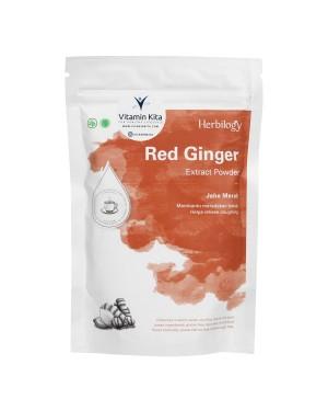 HERBILOGY RED GINGER EXTRACT POWDER 100GR BPOM UNTUK KEKEBALAN TUBUH