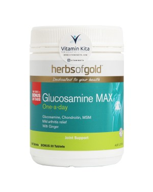 Herbs of Gold Glucosamine MAX (180 Tablet   Bonus 30 Tablet )