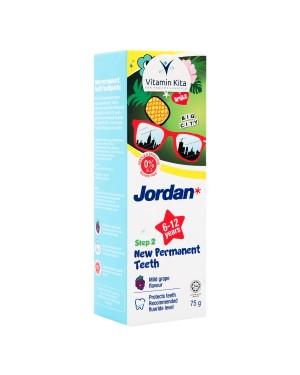 JORDAN KIDS TOOTHPASTE NEW PERMANENT TEETH STEP 2 (6-12 YEARS) 75G
