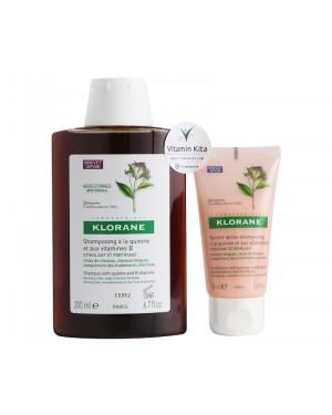 Klorane Revitalising Moment with Quinine and B Vitamins RevitaliseAndStrengthen Hair in2 Steps-1pack