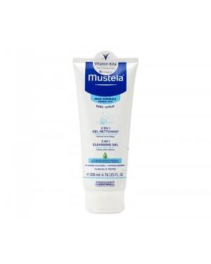 MUSTELA 2 IN 1 CLEANSING GEL HAIR AND BODY BPOM - 200 ML