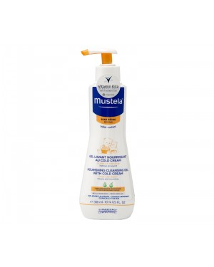 MUSTELA NOURISHING CLEANSING GEL WITH COLD CREAM HAIR AND BODY BPOM - 300 ML