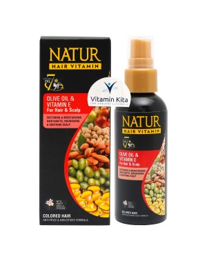 NATUR HAIR VITAMIN OLIVE OIL AND VITAMIN E 80ML