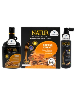 NATUR SHAMPOO 140 ML AND HAIR TONIC GINSENG EXTRACT 90 ML