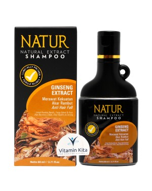 NATUR SHAMPOO GINSENG EXTRACT 80 ML