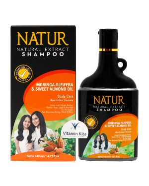NATUR SHAMPOO MORINGA AND ALMOND OIL 140 ML