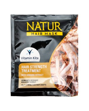 NATUR HAIR MASK STRENGTH TREATMENT WITH GINSENG EXTRACT 15 GR