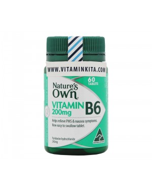 Natures Own Vitamin B6 200mg - 60 tab
