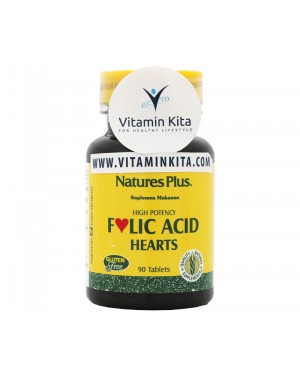NATURES PLUS FOLIC ACID HEARTS BPOM (90 TAB)