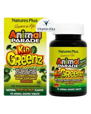Natures Plus Animal Parade Kid Greenz-90 Chewtabs KK