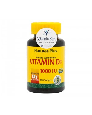 Natures Plus Vitamin D3 1000-IU-180 Softgels