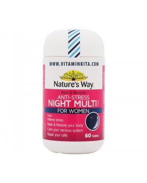 Natures Way Rest And Restore Anti-Stress Night Multivitamin For Women (60 Tab)