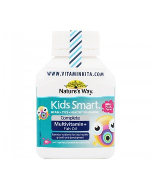 Natures Way Kids Smart Complete Multivitamin + Fish Oil HIGH DHA (50 Caps)