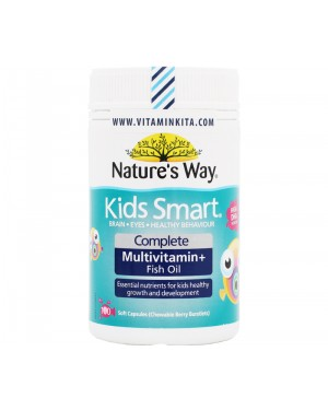 NATURES WAY KIDS SMART COMPLETE MULTIVITAMIN + FISH OIL (100 CAPS)
