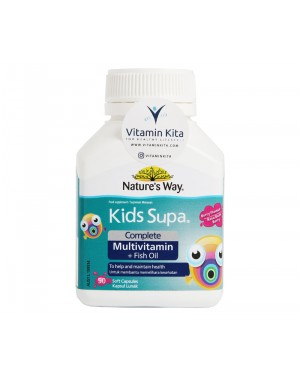 NATURES WAY KIDS SUPA COMPLETE MULTIVITAMIN PLUS FISH OIL BERRY FLAVOUR - 50 SOFTCAPS