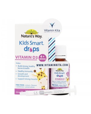 Natures Way Kids Smart Drops Vitamin D3 (20mL)