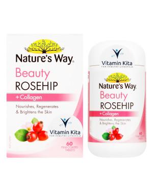 Natures Way Beauty Rosehip Plus Collagen-60 Tabs