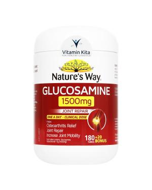 Natures Way Glucosamine 1500mg-180+20 Bonus Tabs