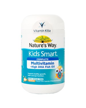 NATURES WAY KIDS SMART COMPLETE MULTIVITAMIN PLUS FISH OIL (100 CAPS)