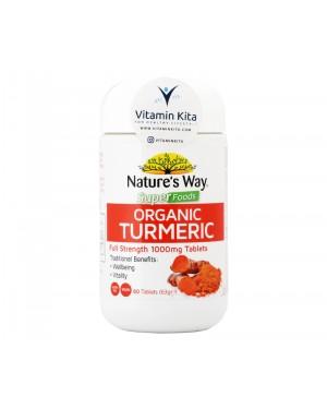 Natures Way Superfoods Organic Turmeric - 60 Tabs