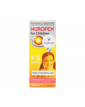 Nurofen For Children 1-5 Years Strawberry Flavour - 200ml