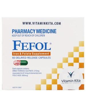 Fefol Iron & Folate Supplement (60 Cap)
